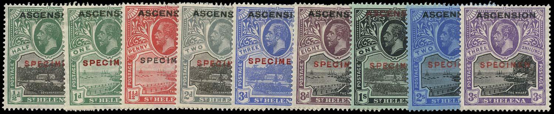 ASCENSION 1922  SG1s/9s Specimen