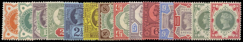 GB 1887  SG197 Mint unused set of fourteen