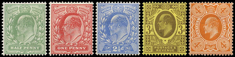 GB 1911  SG279/86 Mint unused o.g. example