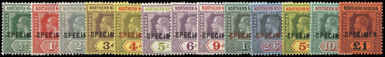 NORTHERN NIGERIA 1912  SG40s/52s Specimen