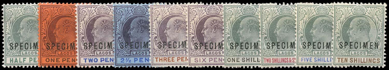 LAGOS 1904  SG44s/53s Specimen