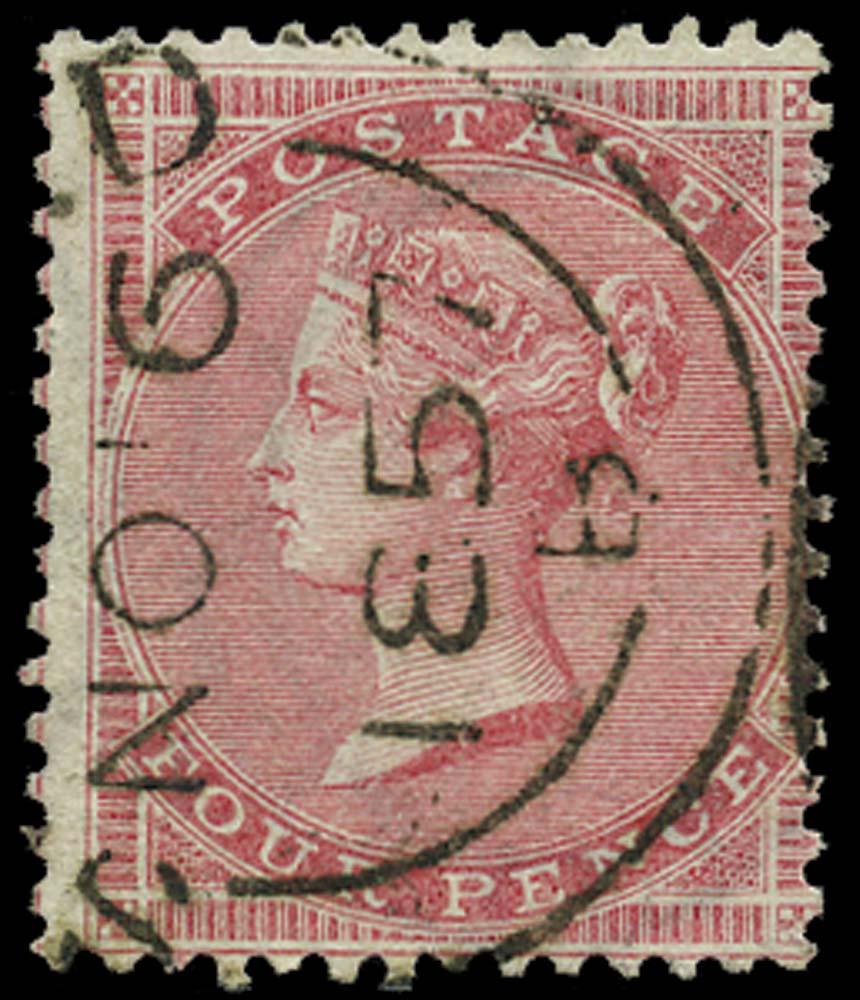 GB 1857  SG66 Used NO.6.1857 cds