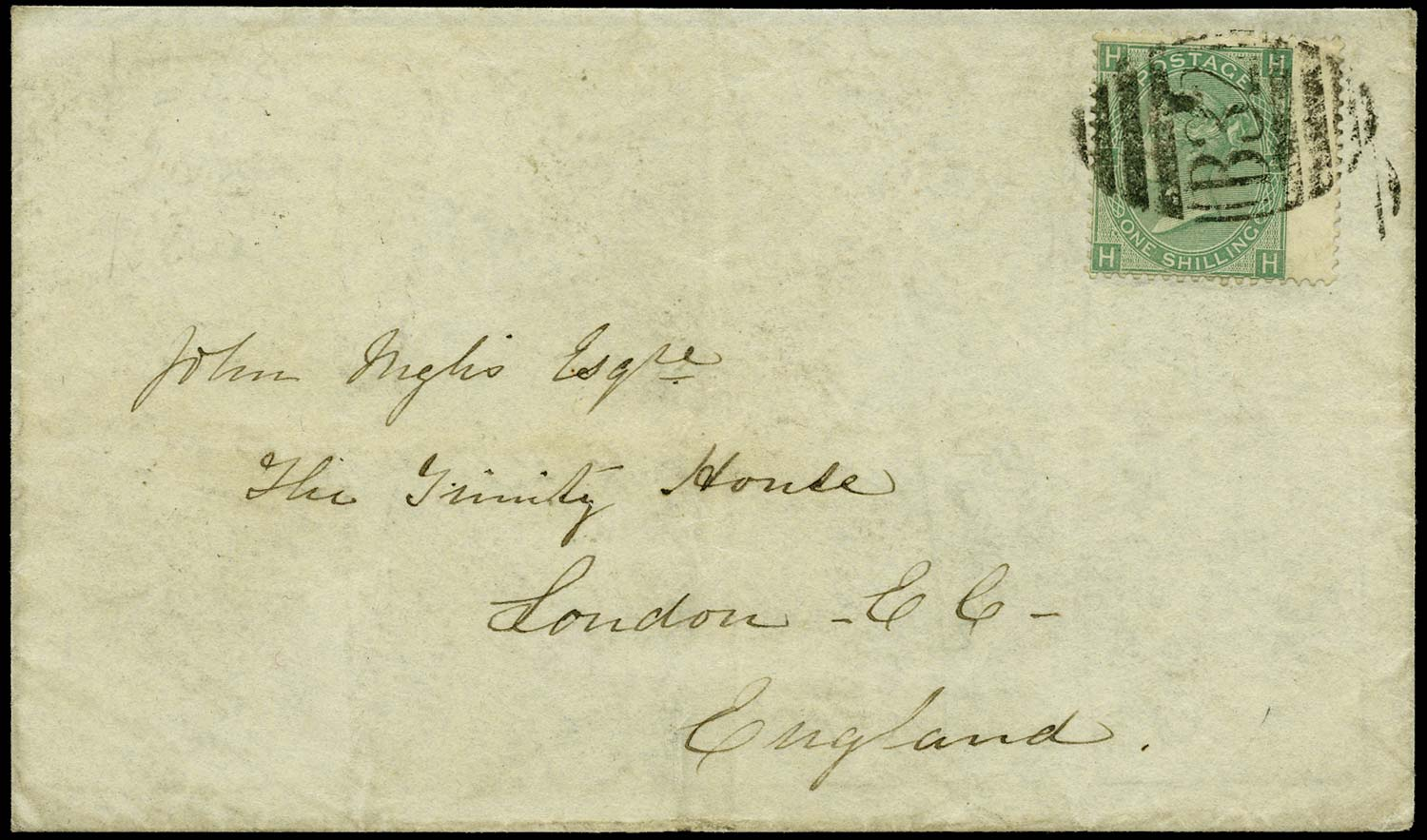 GB 1870  SG117 Cover Buenos Aires