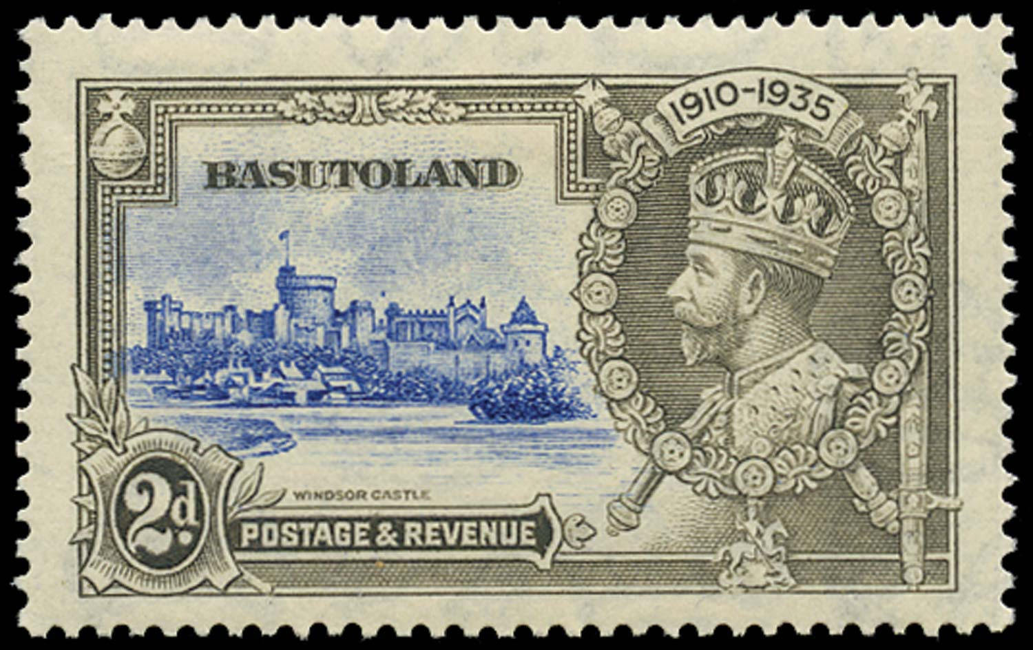 BASUTOLAND 1935  SG12g Mint 2d Dot to left of Chapel