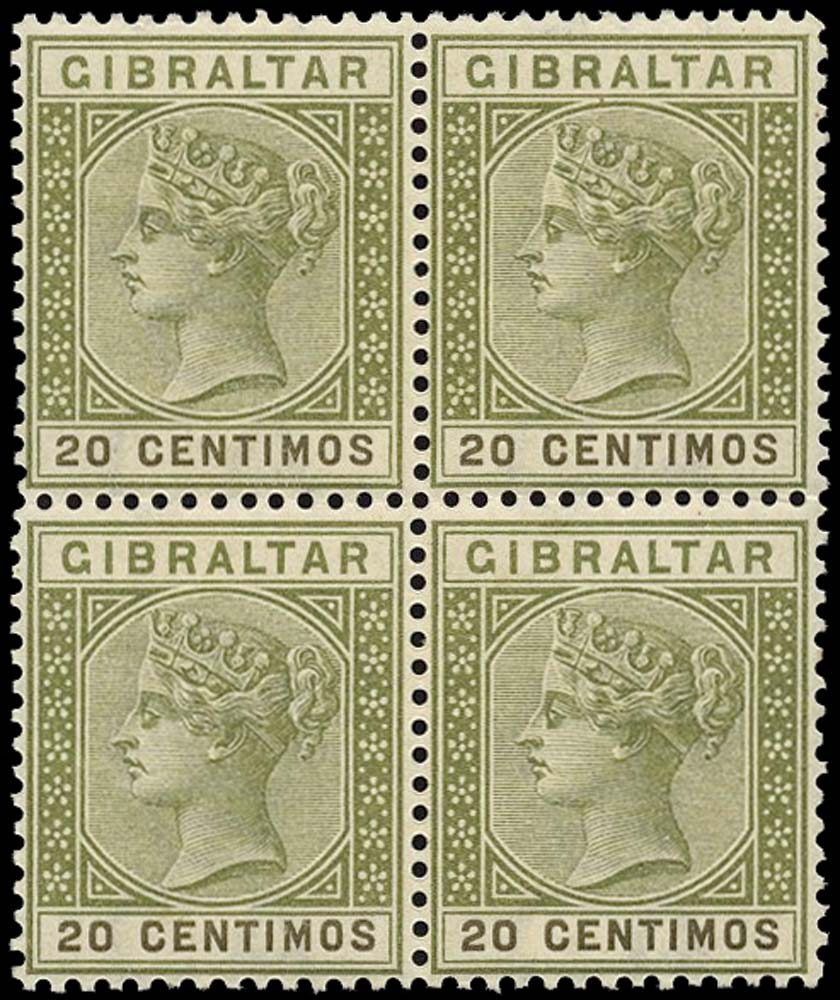 GIBRALTAR 1889  SG24 Mint