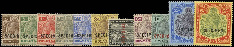 MALTA 1914  SG69s/88s Specimen