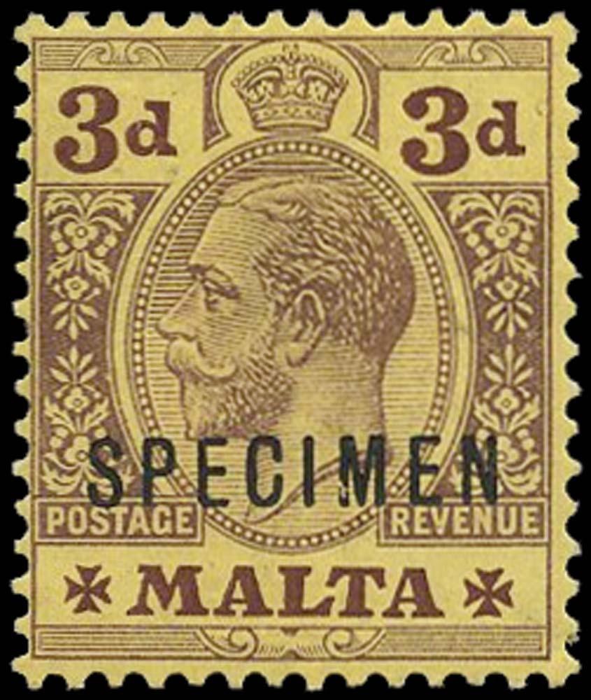 MALTA 1914  SG78bs var Specimen