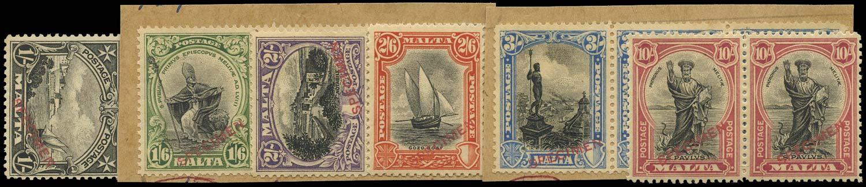 MALTA 1926  SG166s/70s, 172s Specimen