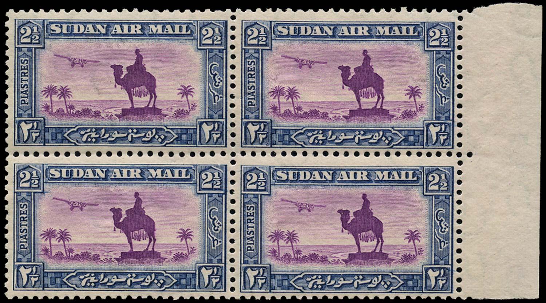 SUDAN 1931  SG53dx Mint Air 2½p perf 11½x12½ watermark reversed