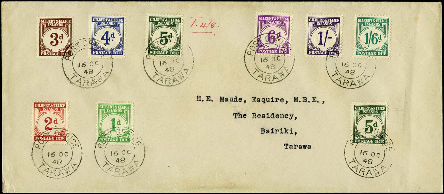 GILBERT & ELLICE IS 1948  SGD1/8 Cover