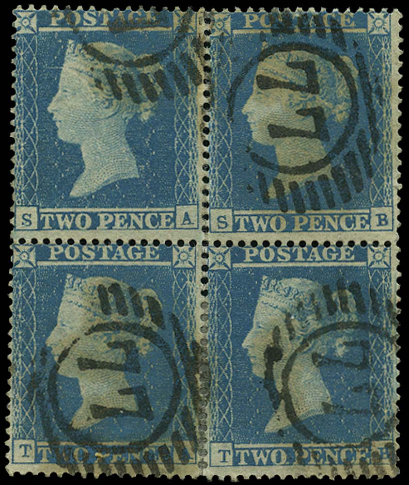 GB 1854  SG19 Pl.4 Used