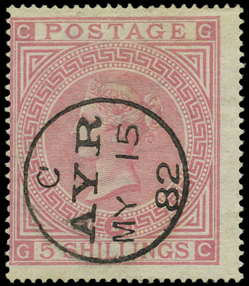 GB 1874  SG127 Pl.2 Used Ayr cds