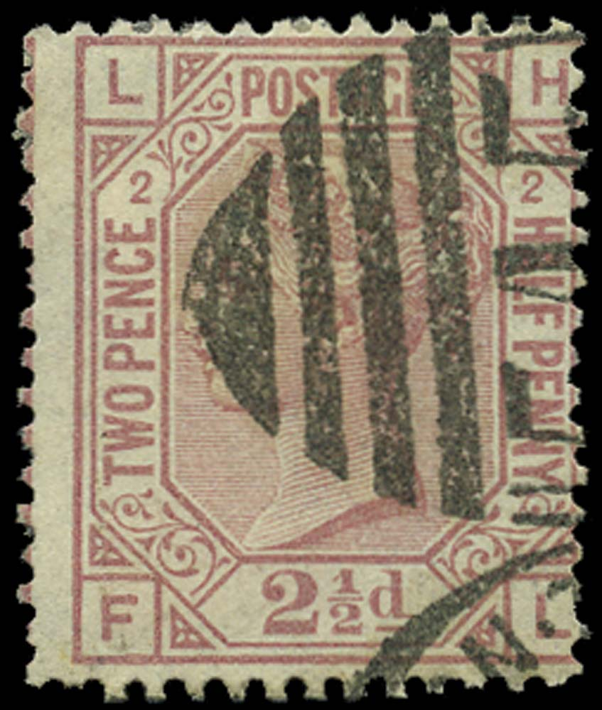GB 1875  SG140 Pl.2 Used LH-FL error of lettering