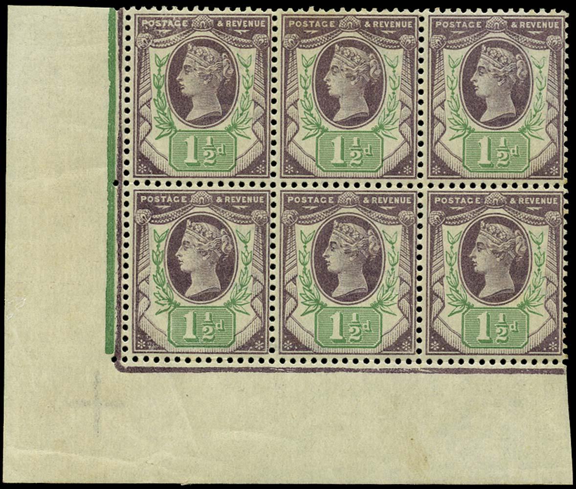 GB 1887  SG198b Mint