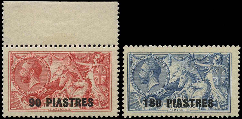 BRITISH LEVANT 1921  SG49/50 Mint