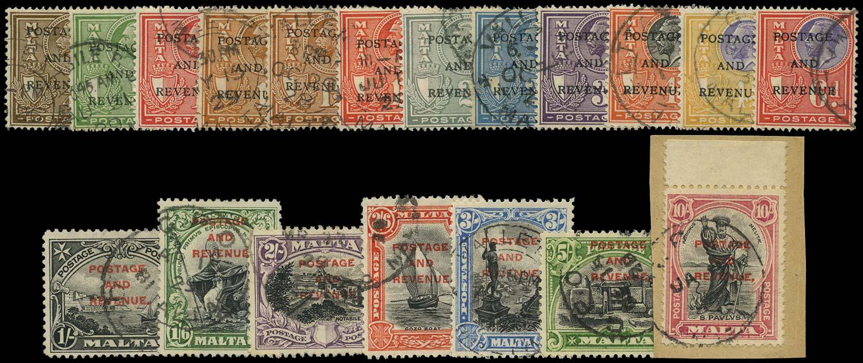 MALTA 1928  SG174/92 Used