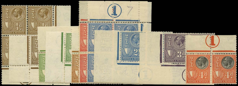 MALTA 1930  SG193/6, 198/200 Mint