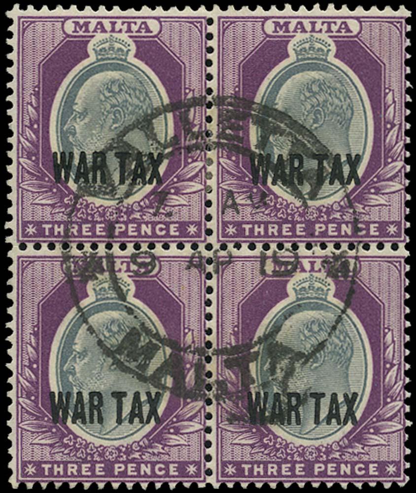 MALTA 1917  SG93 Used