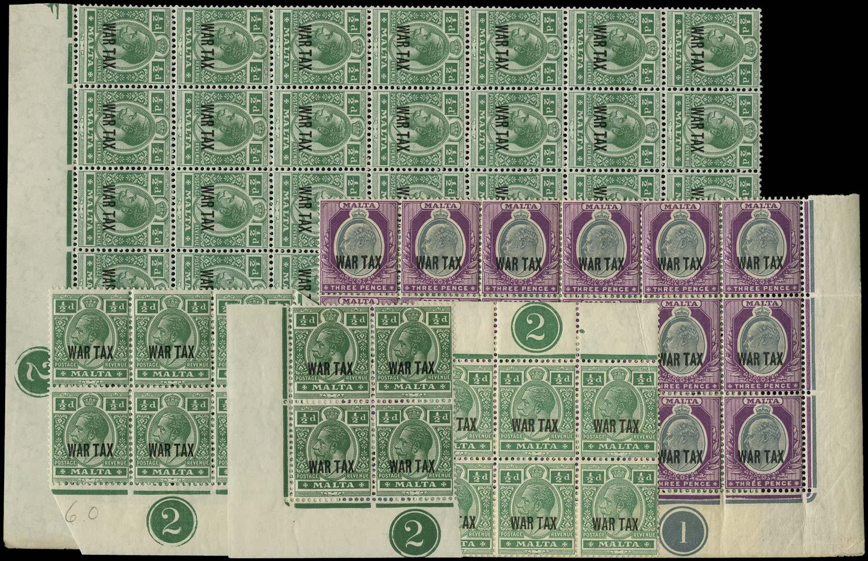 MALTA 1917  SG92/3 Mint