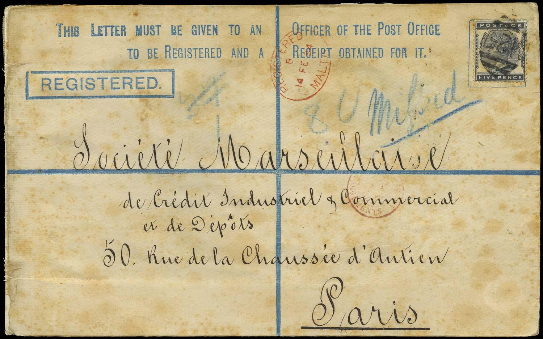 MALTA 1884  SGZ95 Cover