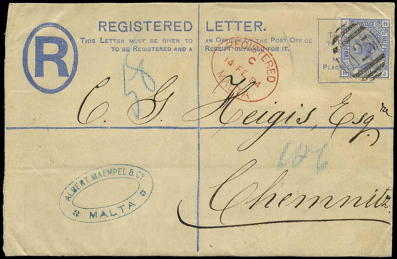 MALTA 1884  SGZ40 Cover