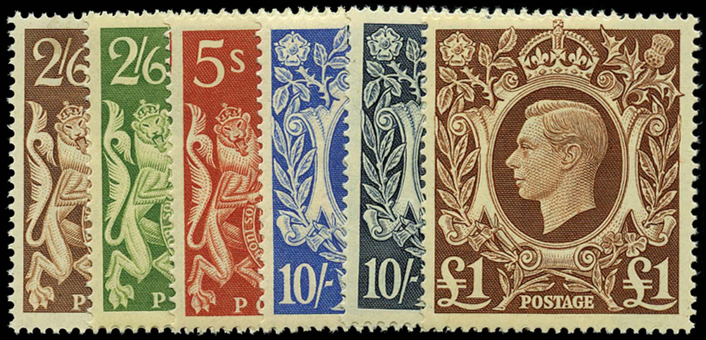 GB 1939  SG476/8c Mint set of six