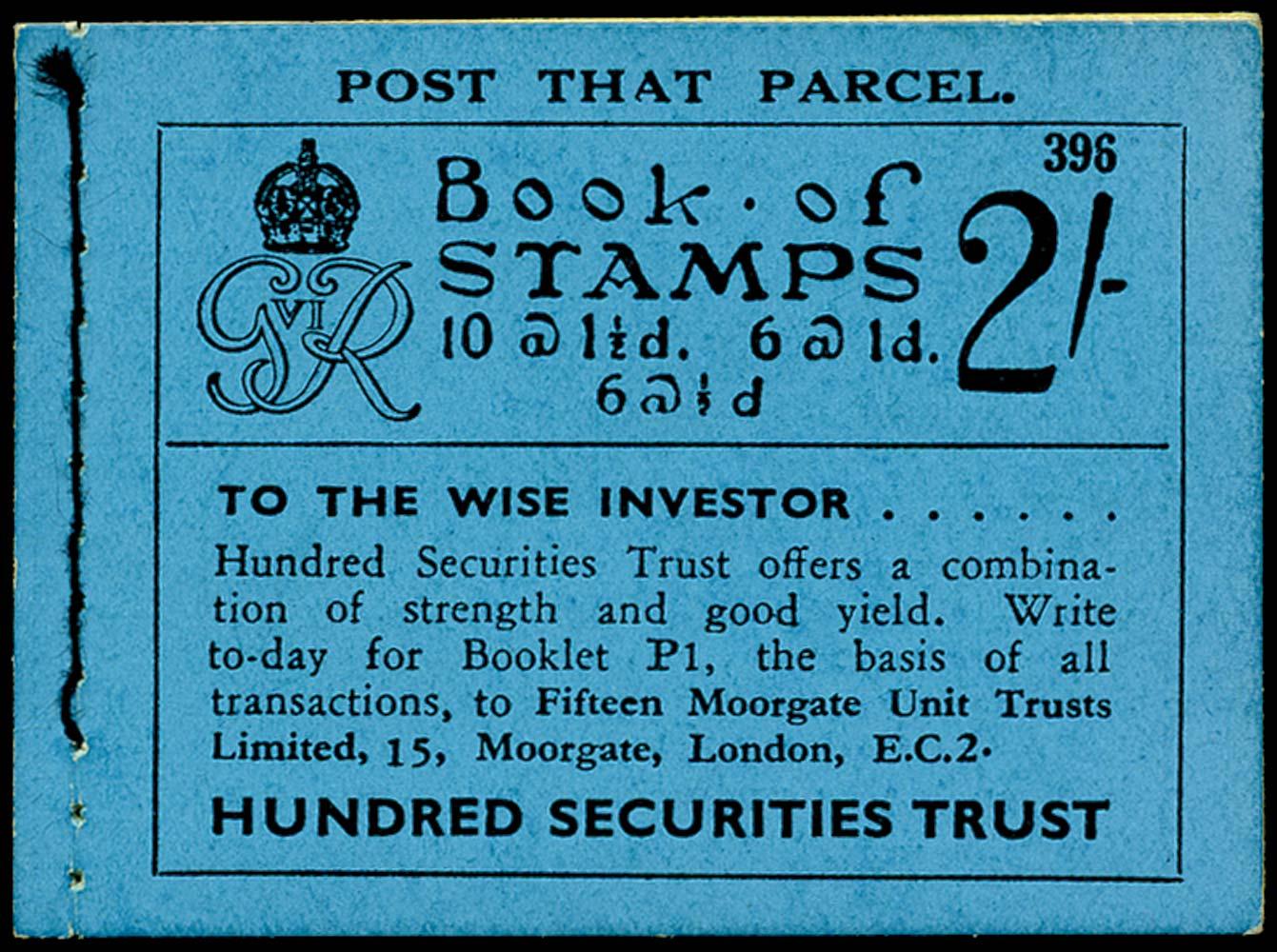 GB 1937  SGBD11 Booklet