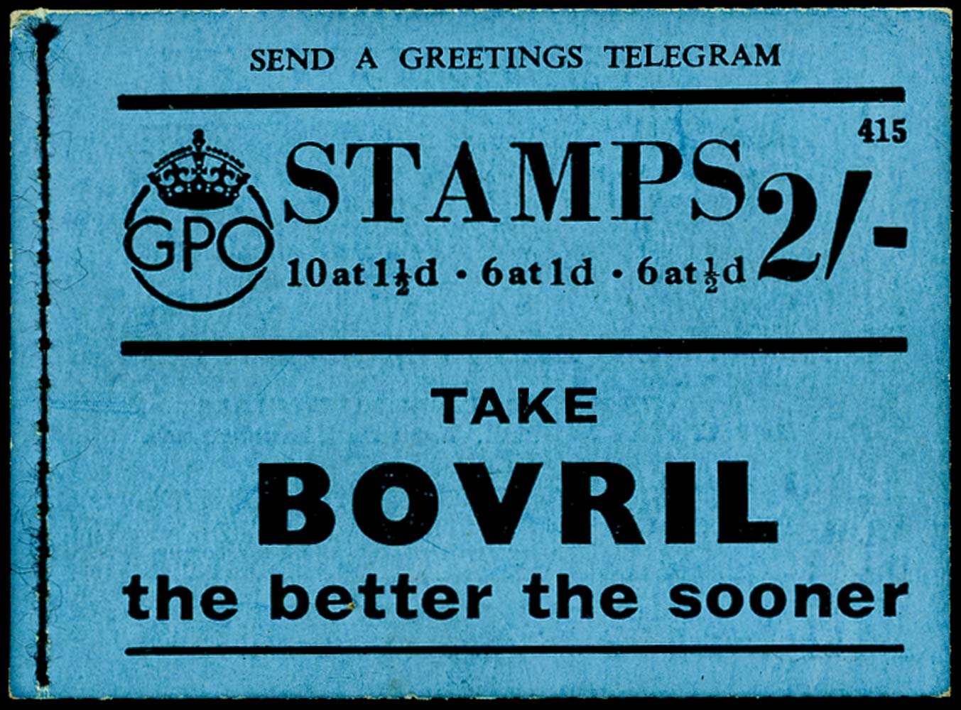 GB 1938  SGBD12 Booklet (Edition No.415)