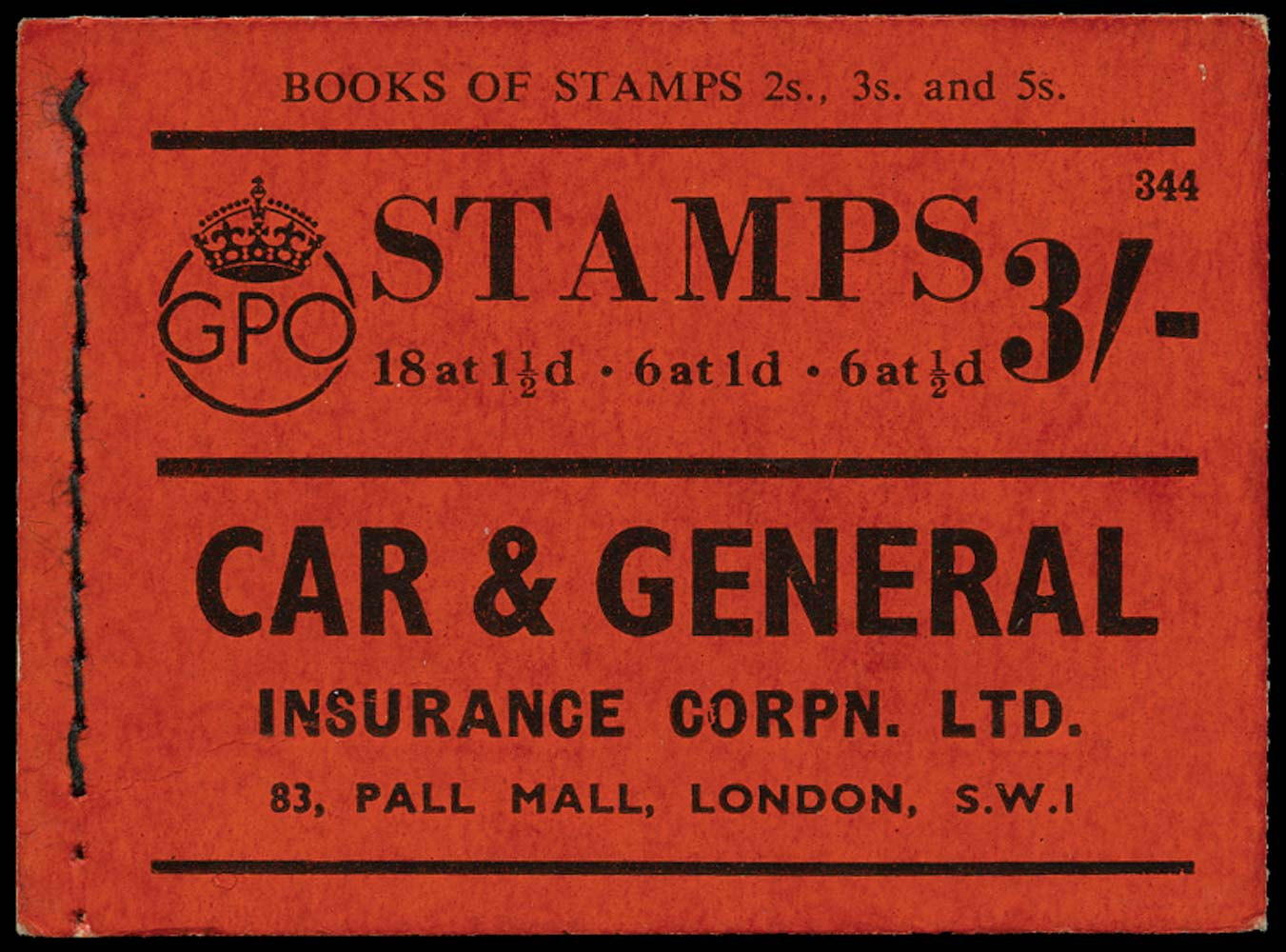 GB 1938  SGBD22 Booklet (Edition No.344)
