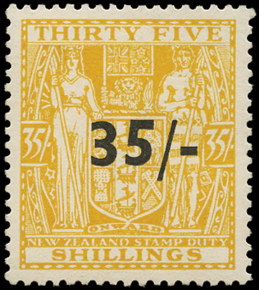 NEW ZEALAND 1939  SGF186 Postal Fiscal