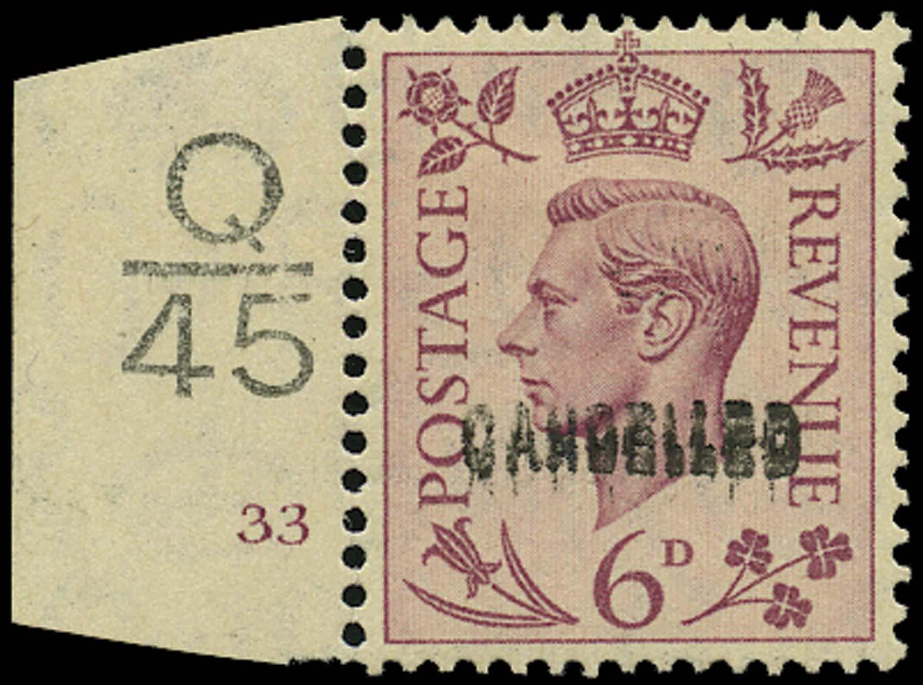 GB 1939  SG470var Specimen