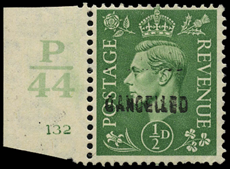 GB 1941  SG485var Specimen