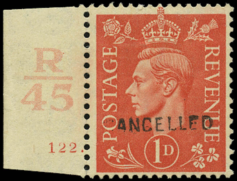 GB 1942  SG486var Specimen
