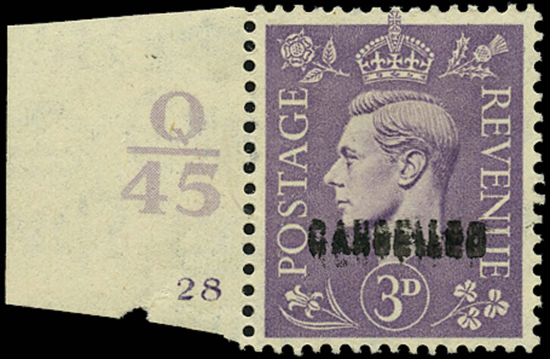 GB 1941  SG490var Specimen