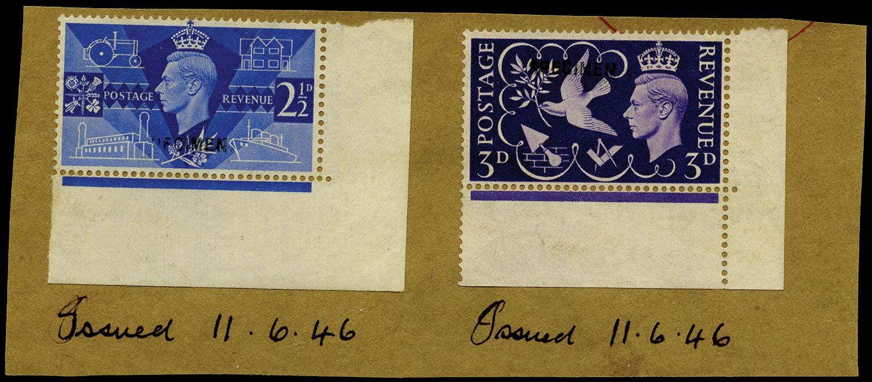 GB 1946  SG491/2s Specimen type 30, on piece