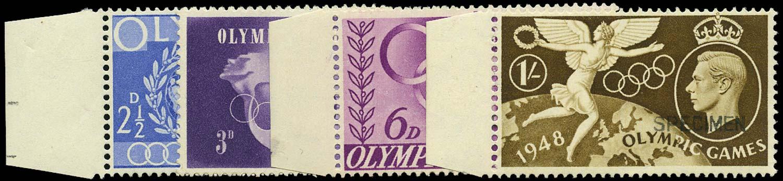 GB 1948  SG495/8s Specimen type 26, on piece