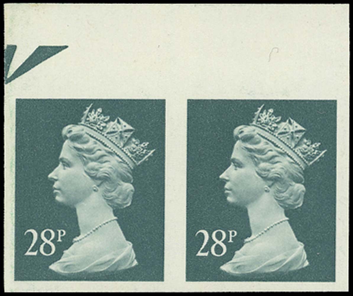 GB 1991  SGX977a Mint Imperforate pair