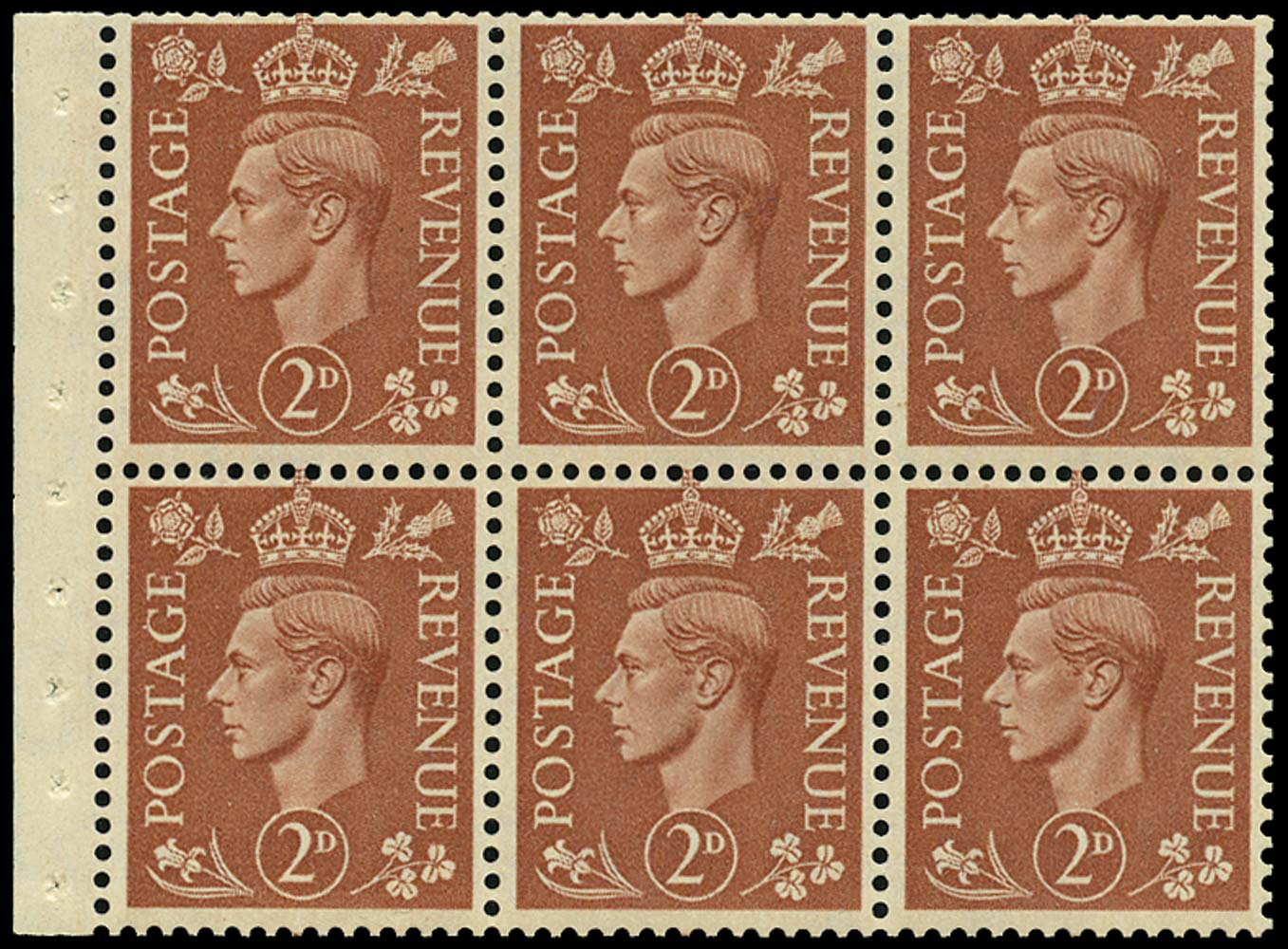 GB 1951  SG506d Booklet pane