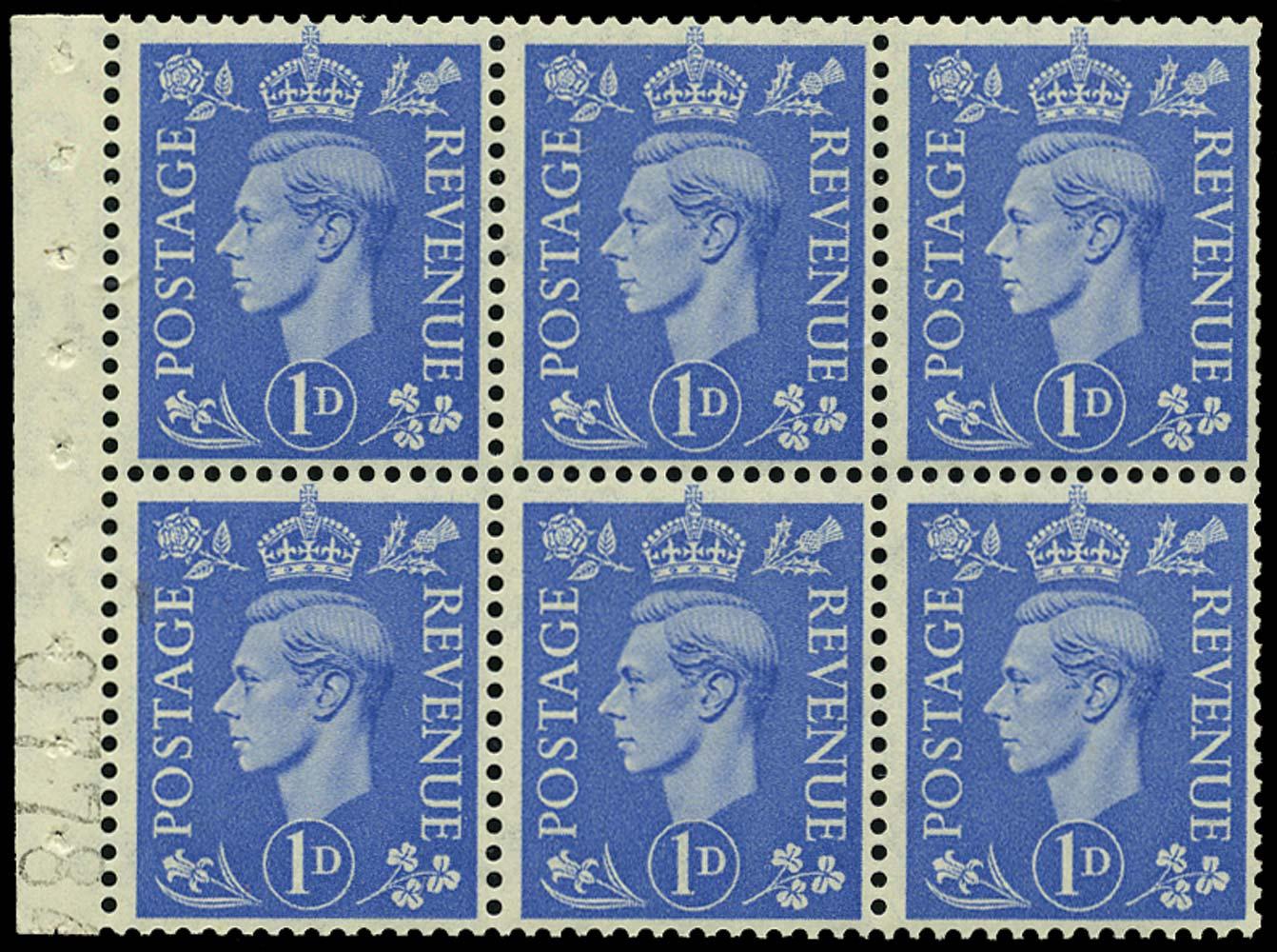 GB 1951  SG504f Booklet pane