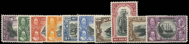 ST HELENA 1934  SG114/23 Mint