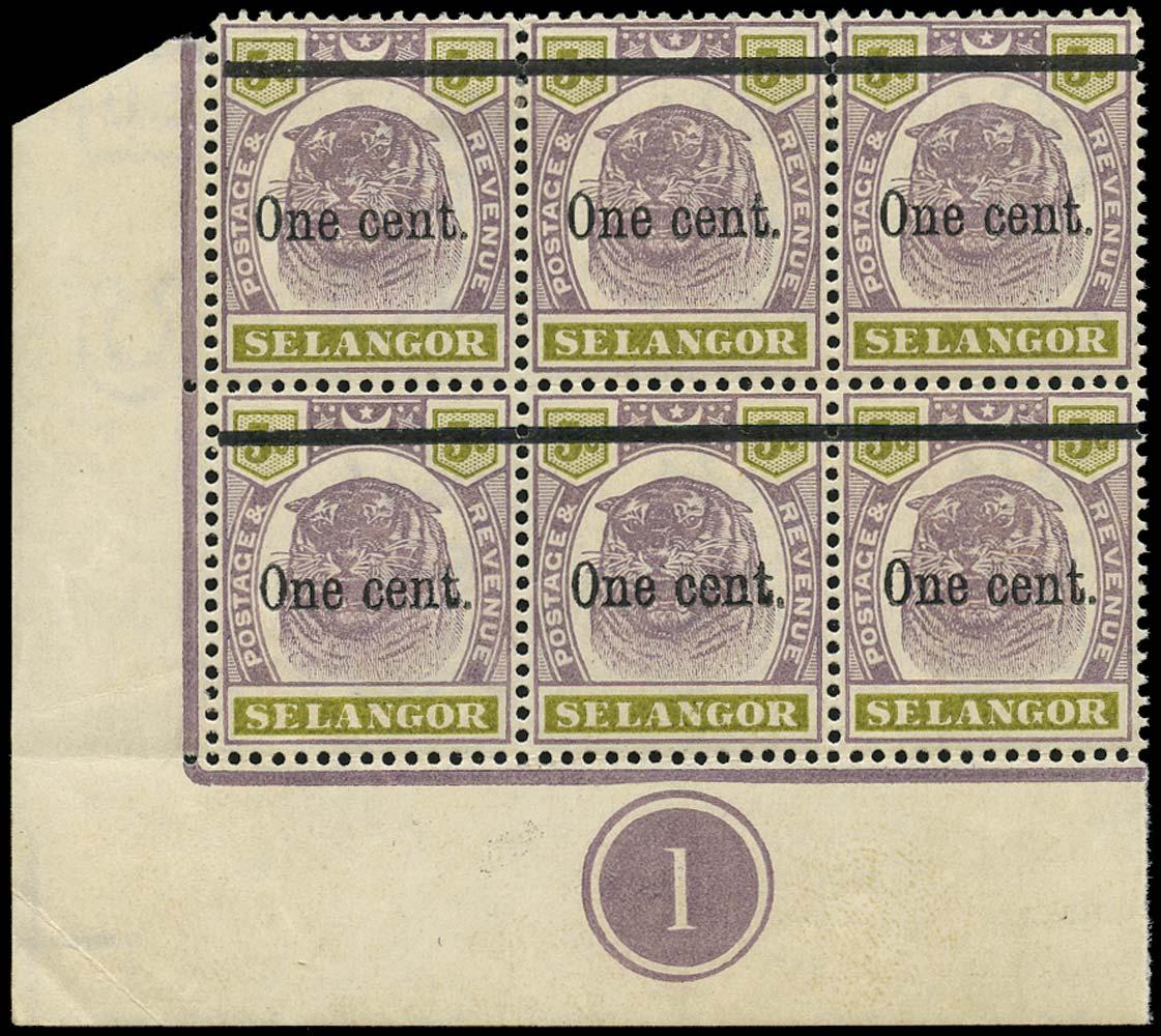 MALAYA - SELANGOR 1900  SG66a Mint