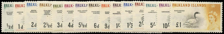 FALKLAND ISLANDS 1960  SG193/207 Mint