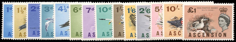 ASCENSION 1963  SG70/83 Mint