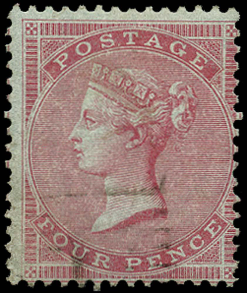 GB 1856  SG63 Used Scottish numeral