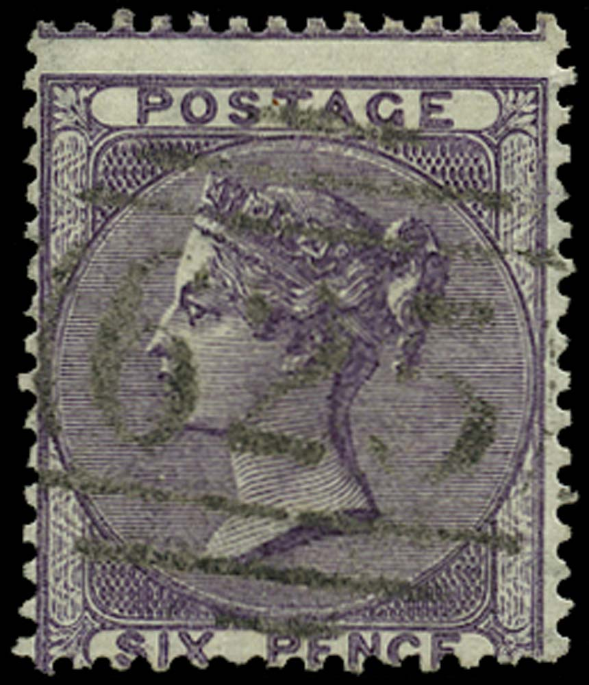 GB 1856  SG69 Used Portsmouth numeral