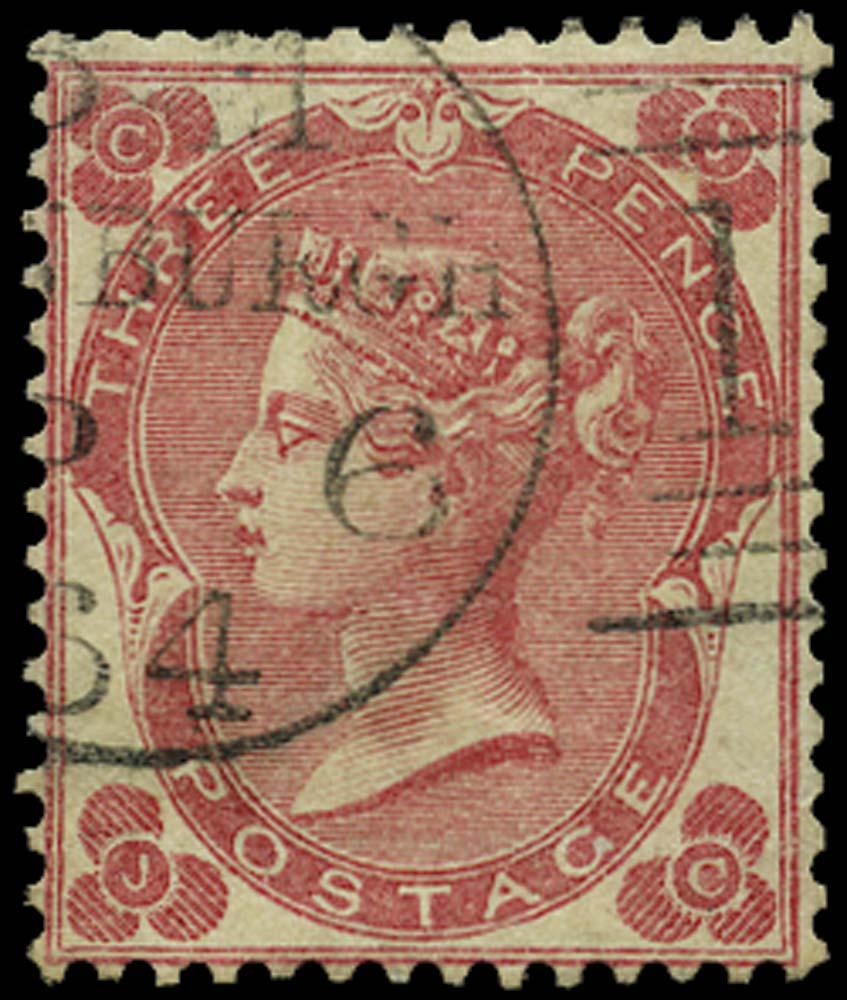 GB 1862  SG75 Pl.2 Used Edinburgh duplex