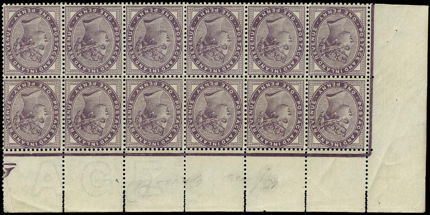 GB 1881  SG172wi Mint U/M block of twelve