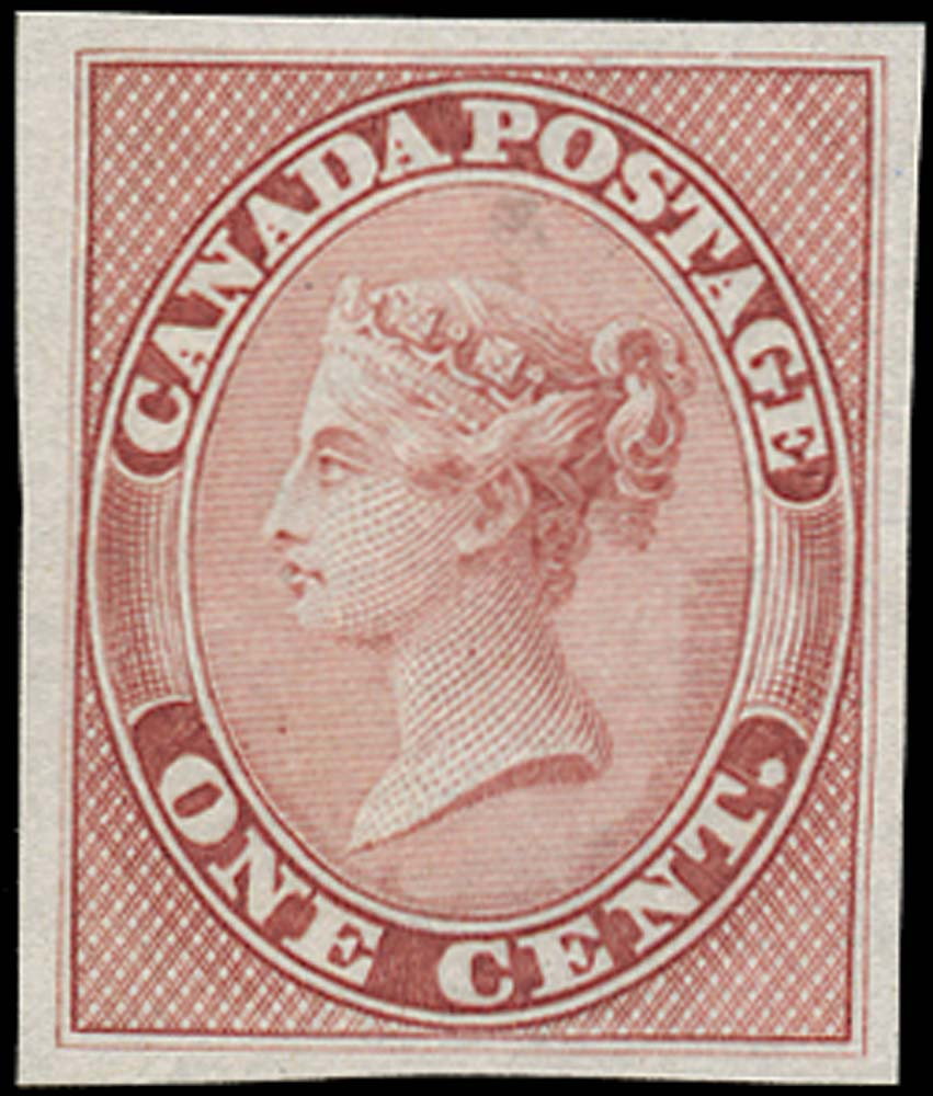 CANADA 1859  SG29 Proof 1c rose
