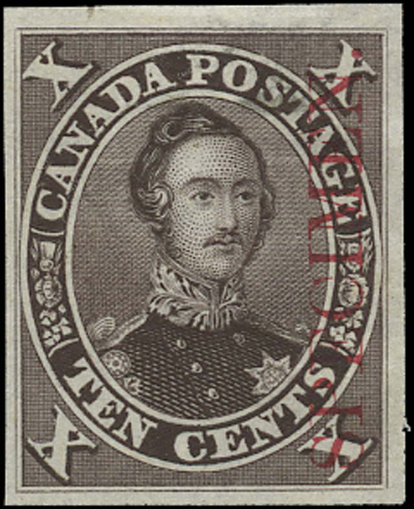 CANADA 1859  SG33 Proof Prince Albert 10c black-brown