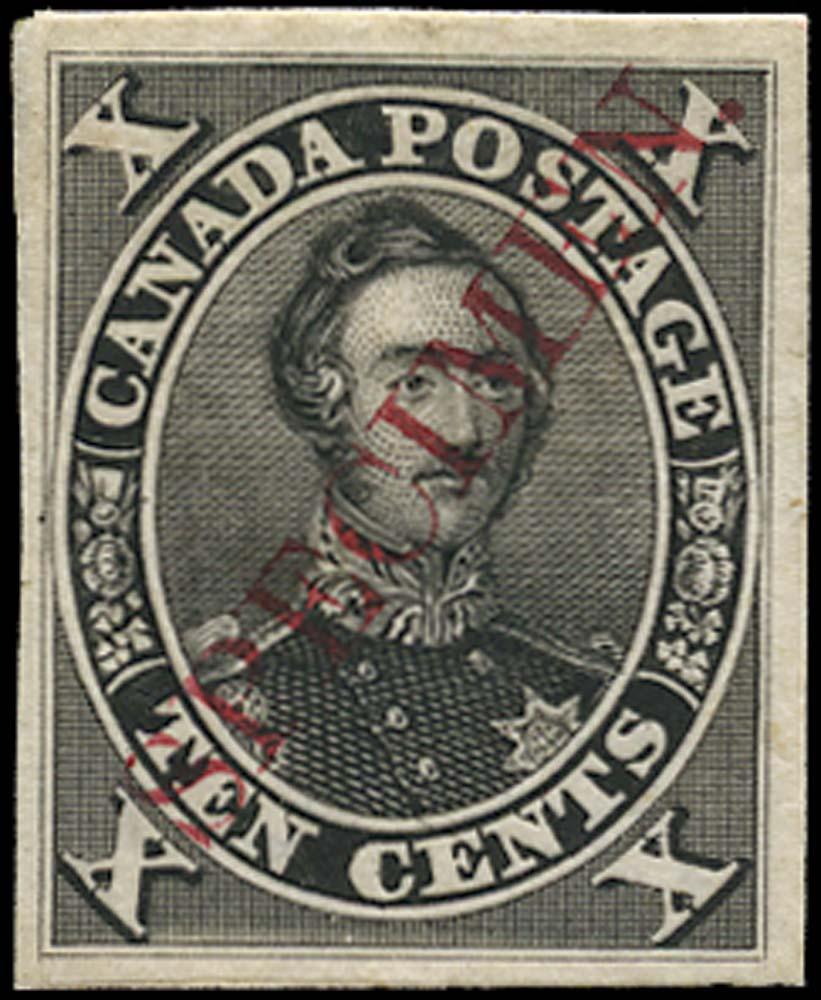 CANADA 1859  SG33 Proof Prince Albert 10c black